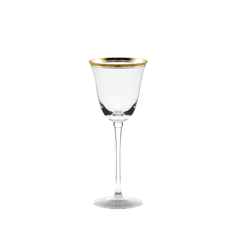 Gold Rim Bella White Wine 6oz Sterling Party Rentals